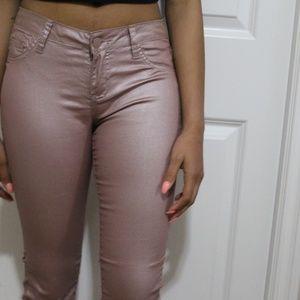 Skinny Grey-Pink Skinny Pants